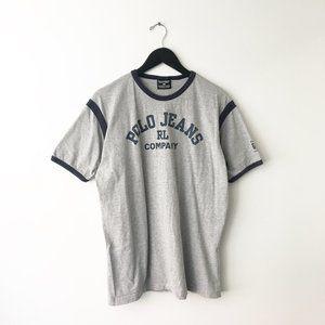 90s Vintage Polo Jeans Ralph Lauren Ringer Shirt L